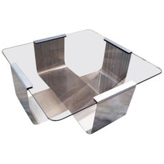 Francois Monnet Coffee Table for Living Room / Side Table, 1975