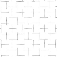 Intersecting Lines - Plate 4 - Original Screen Print by François Morellet - 1975