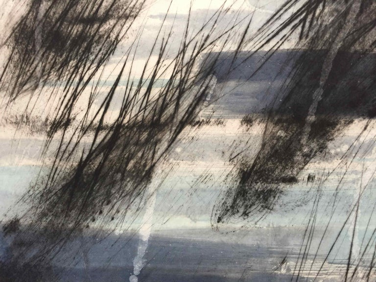 Friche/Fallow Land: Edition (1/9) Engraving with Hand Painting by Francois Pont - Gray Abstract Print by François Pont