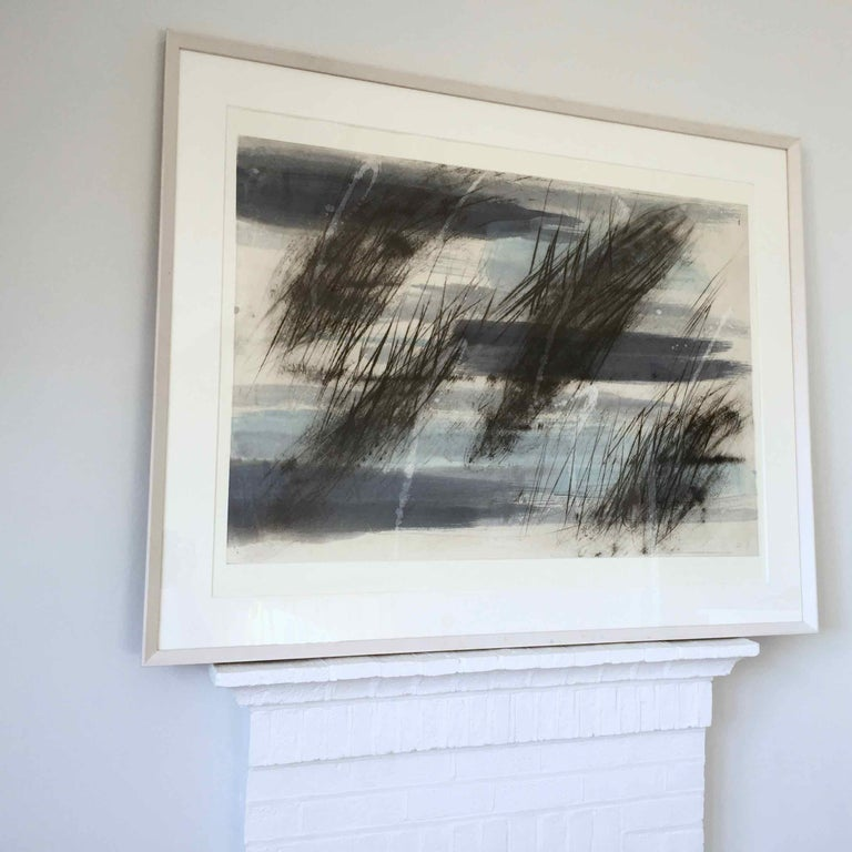 Friche/Fallow Land: Edition (1/9) Engraving with Hand Painting by Francois Pont For Sale 2