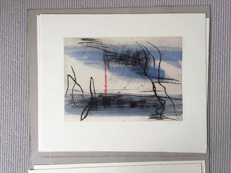 Growth 5: Editioned Engraving with Unique Hand Painting by François Pont For Sale 1
