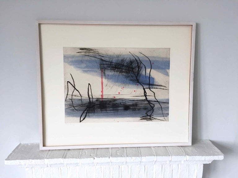 Growth 5: Editioned Engraving with Unique Hand Painting by François Pont For Sale 2