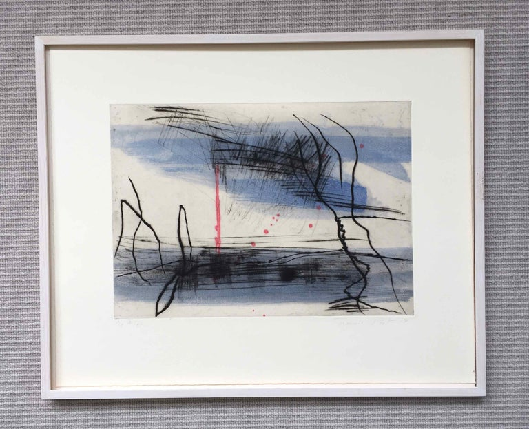 Growth 5: Editioned Engraving with Unique Hand Painting by François Pont For Sale 3