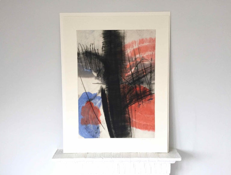 Souche 5: Limited Edition Engraving with Unique Hand Painting by François Pont For Sale 1