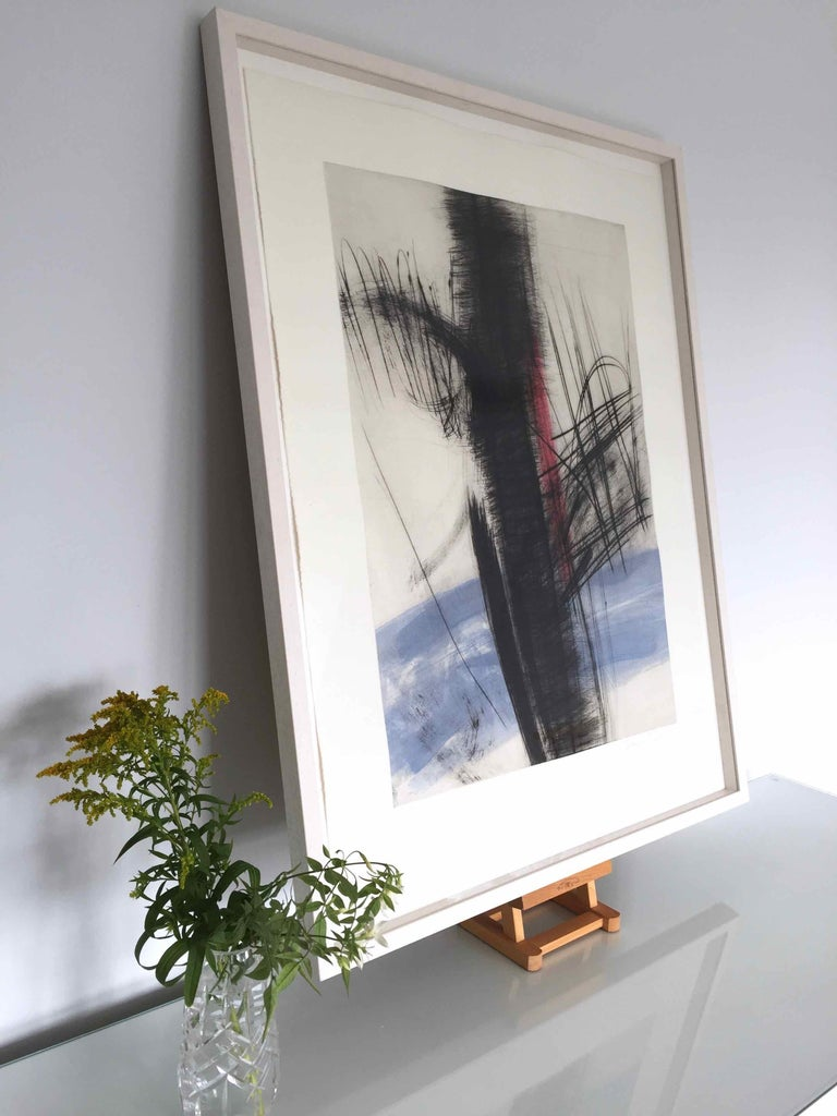Souche 6: Limited Edition Engraving with Unique Hand Painting - Abstract Expressionist Print by François Pont