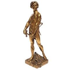 """Francois Raoul Larche """"Vingt Ans"""" Gilt Bronze"""
