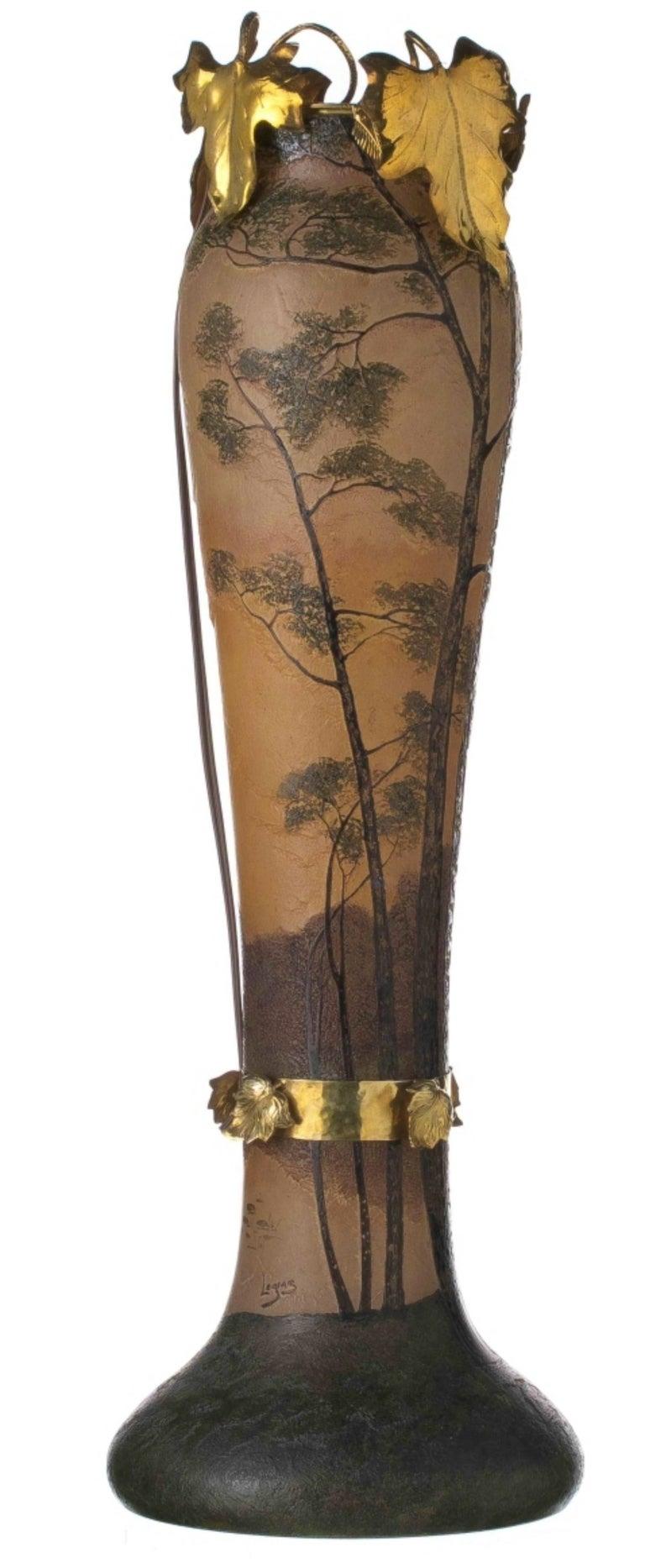 Art Nouveau François, Theodore Legras Vase Signed For Sale