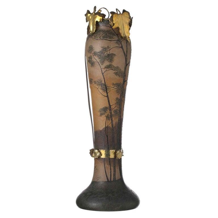 François, Theodore Legras Vase Signed For Sale