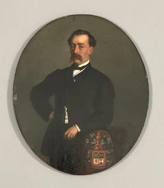 FRANCOIS VAN SEVERDOCK. Portrait of Eugène de Zereso de Cejada. Oil on panel