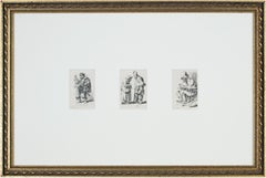 Three original etchings of figures after Rembrandt