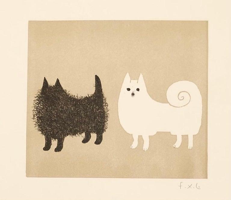 Francois-Xavier Lalanne (1927-2008) Les Spitz, 2004 - White Animal Print by Francois-Xavier Lalanne