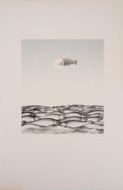 Miraculous Catch of Fish  - Original lithograph, Handsigned