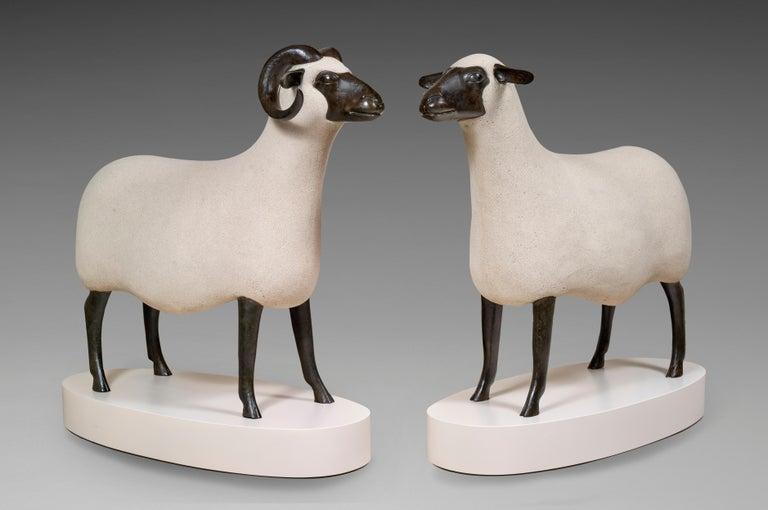 <i>Bélier & Brebis</i>, 1998–2000, by François-Xavier Lalanne, offered by Galerie de Souzy