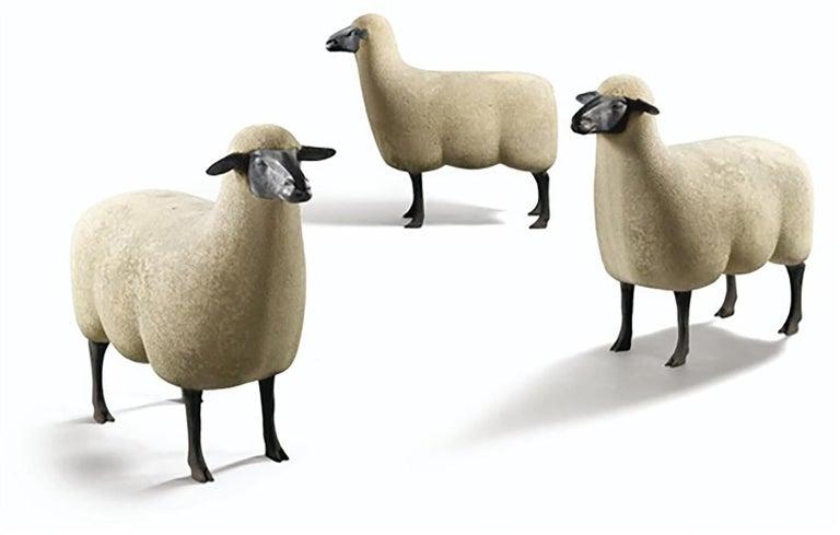 Francois-Xavier Lalanne Figurative Sculpture - 'Mouton de Pierre' A Group of three