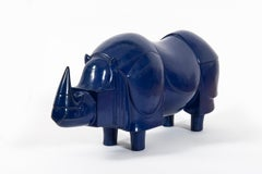 Rhinoceros, FX Lalanne, Sculpture, Design, Blue Klein, 1980's, Iron, French Art