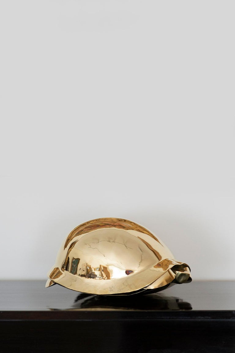 Tortue, Turtle, Lalanne, Sculpture, Design, 1970's, Brass, French Art, Gold  Tortue Edition artcurial 55/100 1973 Stamped and hammered brass 13 x 26 x 18 cm Monogramed, dated and numbered : FXL, (19)73, 55/100 Certificate of authenticity issued by