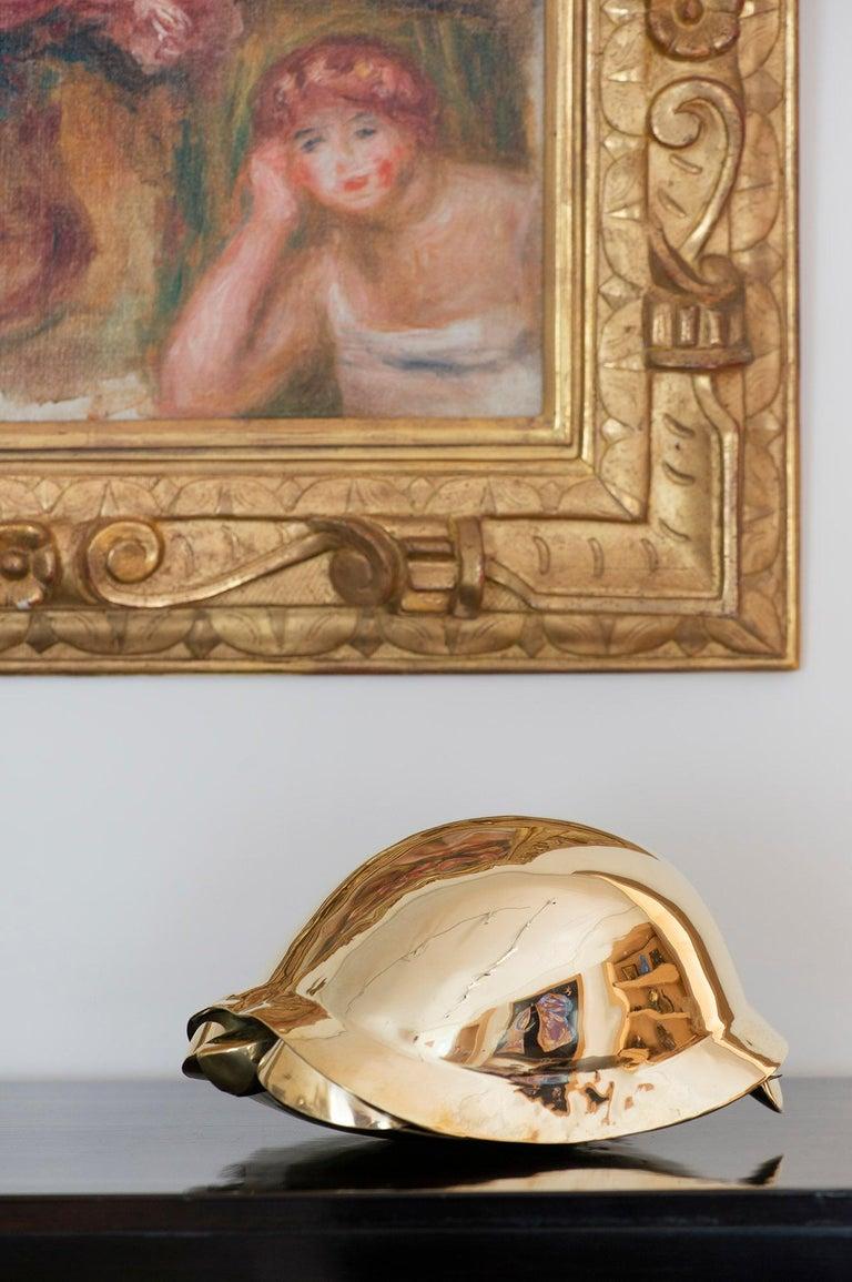 Francois-Xavier Lalanne Figurative Sculpture - Tortue, Turtle, Lalanne, Sculpture, Design, 1970's, Brass, French Art, Gold