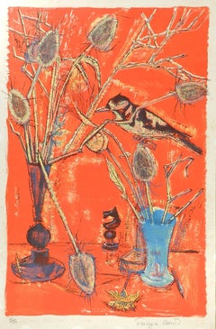 Francoise Adnet Still Life signed Lithograph Mid Century French c1950-60