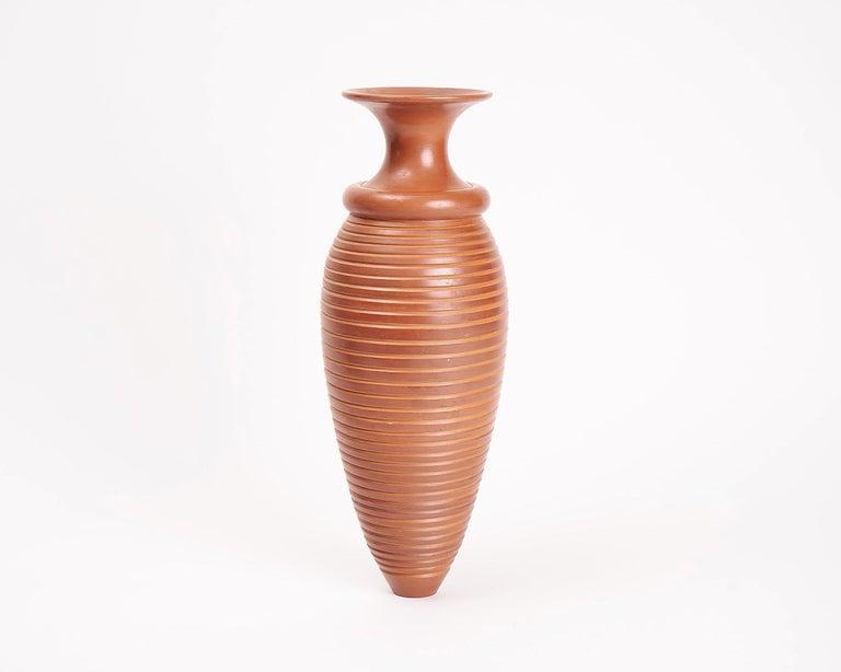 Glazed Françoise Blondeau & Aït Lhaj Hassan, Wide-Mouthed Terracotta Pot, Morocco, 2000 For Sale