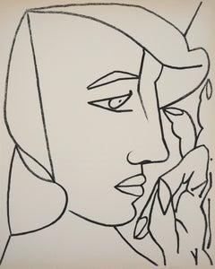 Portrait of a Woman in Profile, 1951 - Original Mourlot lithograph