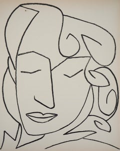 Portrait of a Woman with Closed Eyes, 1951 - Original lithograph