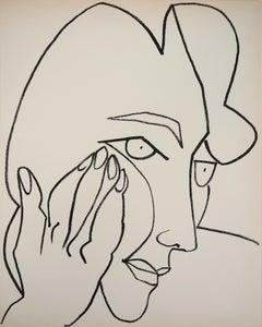 The pensive Lady, 1951 - Original lithograph