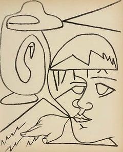 The Reader, Original French Mourlot Modernist Lithograph, 1950s Francois Gilot