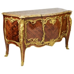 Francoise Linke Signed Bombe Commode, Late 19th Century