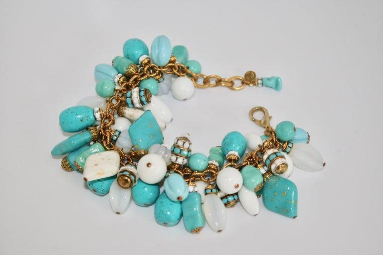Women's Francoise Montague Blue and White Dangle Bracelet For Sale