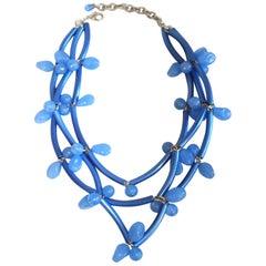 Francoise Montague Blue on Blue Elke Necklace