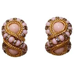 Francoise Montague Blush Clip Earrings
