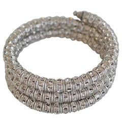 Francoise Montague Clear Crystal Mabrouk Wrap Bracelet