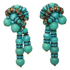 Francoise Montague Double drop Clip Earrings