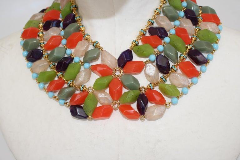 Women's Francoise Montague Glass Cabochon Necklace For Sale
