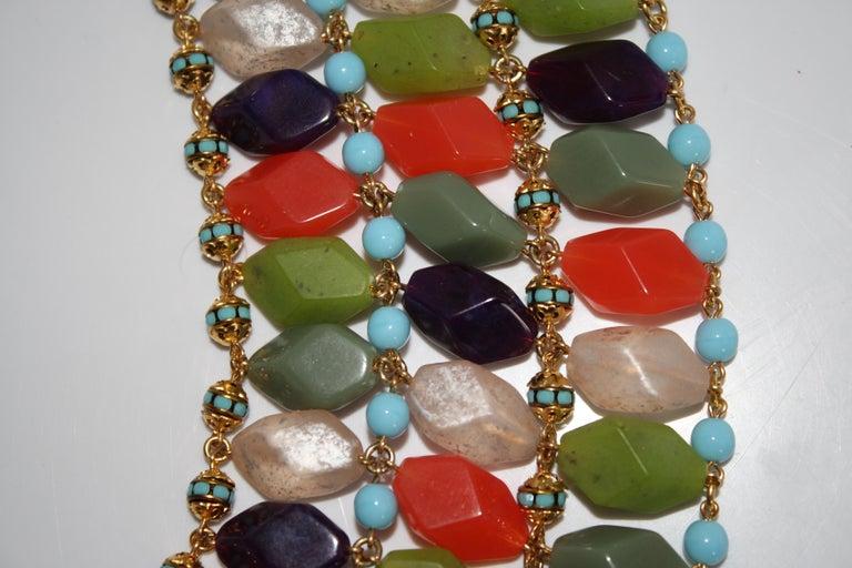 Francoise Montague Glass Cabochon Necklace For Sale 1