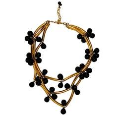 Francoise Montague Gold & Black Elke Necklace