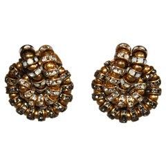Françoise Montague Knot Clip Earrings