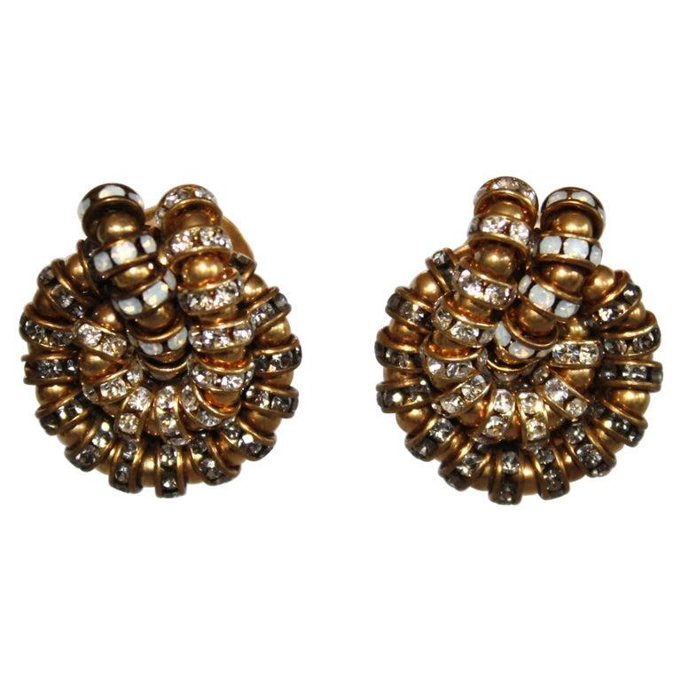 Françoise Montague Knot Clip Earrings  For Sale