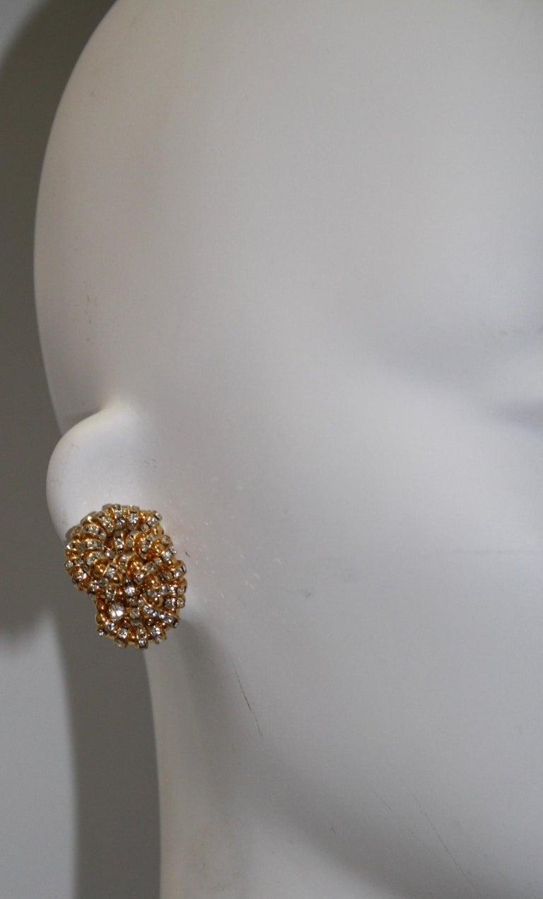 Modern Francoise Montague large Knott Clip Earrings  For Sale