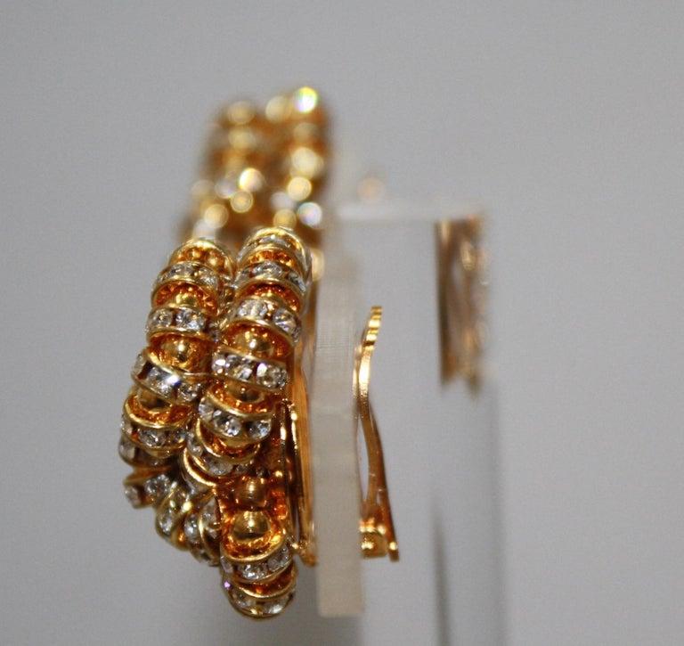 Women's Francoise Montague large Knott Clip Earrings  For Sale