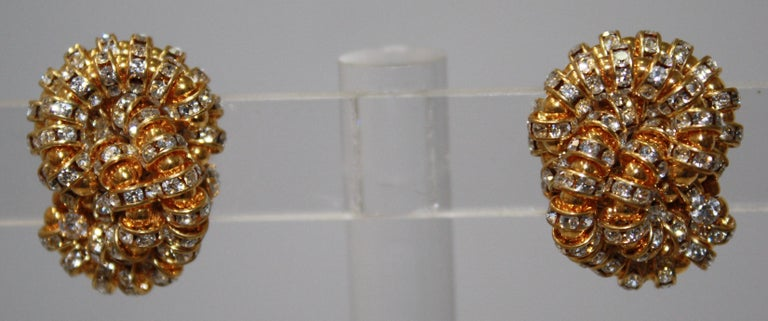 Francoise Montague large Knott Clip Earrings  For Sale 1