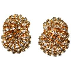 Francoise Montague large Knott Clip Earrings