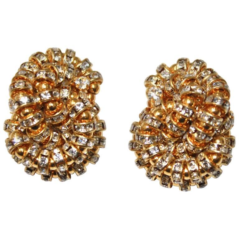 Francoise Montague large Knott Clip Earrings  For Sale