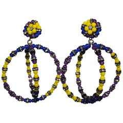 Francoise Montague Overlapping Circle Clip Earrings