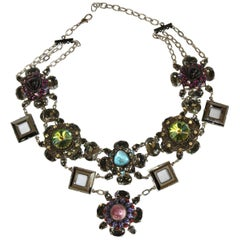 Francoise Montague Vintage Glass and Crystal Limited Series Necklace