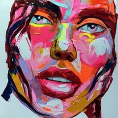 Maeva - 21st Century, Contemporary, Figurative, Oil Painting, Portrait, Pop