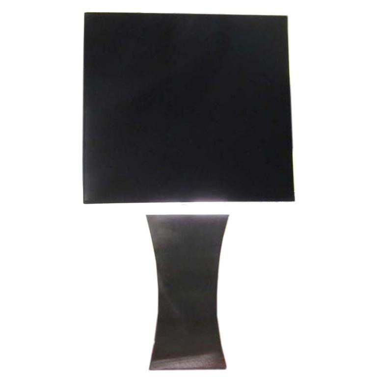 Francoise See Large Brushed Steel Lamp For Sale