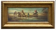 ARABIAN LANDSCAPE- French School - Italian Oil on Canvas Painting