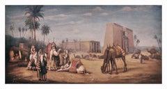 ARABIAN LANDSCAPE - Francoise Vigneron landscape oil on canvas painting