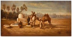 ARABIAN LANDSCAPE - Italian Oil on Canvas Painting